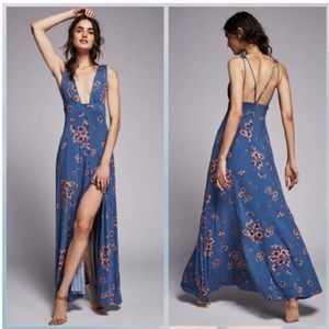 Free People Other Days Maxi Dress Blue